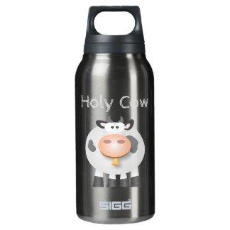Lustige heilige Kuh ist es Ihr Geburtstag niedlich Isolierte Flasche