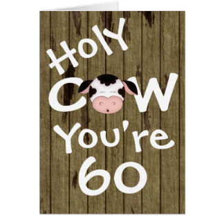 Lustige heilige Kuh sind Sie ein 60 Geburtstags-Gr Grußkarte