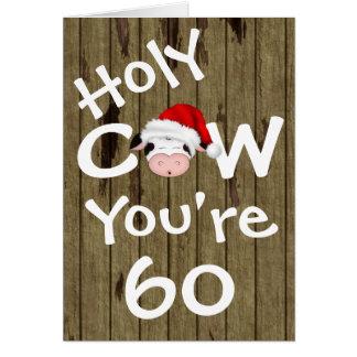 Lustige heilige Kuh sind Sie Weihnachtsgeburtstag Karte