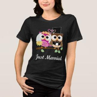 Lustige Hochzeits-Liebe-Eulen: Braut-u. T-Shirt