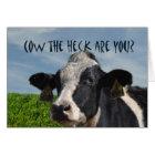 Lustige humorvolle Kuh du fehlst mir Karte