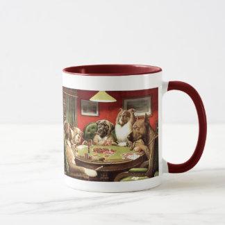 Lustige Hunde, die Poker-Kaffee-Tassen-Tassen Tasse