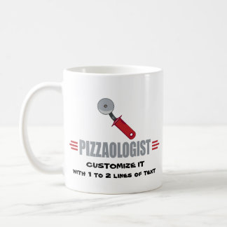 Lustige i-Liebe-Pizza Kaffeetasse