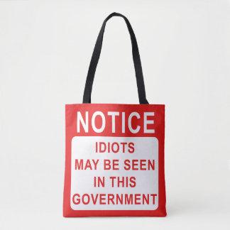 Lustige Idioten in der Regierungs-Tasche Tasche