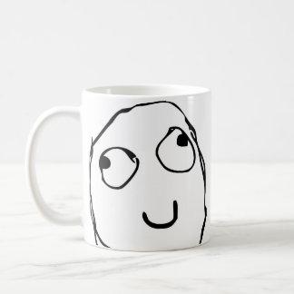 Lustige Kaffee-Tasse des Raserei-Gesichts-Comic Tasse