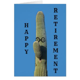Lustige Kaktus-Ruhestands-Wünsche Karte