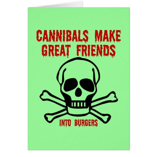 Lustige Kannibalen Grußkarte