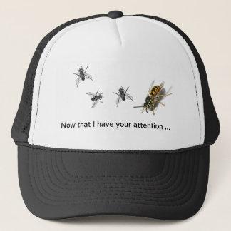 Lustige Kappe Attentiom, das Fliegen, Bienen