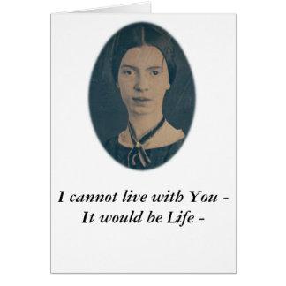 """Lustige Karte Emily Dickinsons """"kann nicht mit"""