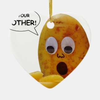 Lustige Kartoffel Keramik Ornament