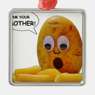 Lustige Kartoffel Silbernes Ornament