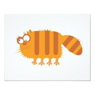 Lustige Katze 10,8 X 14 Cm Einladungskarte