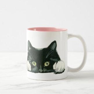 lustige Katze der Katzenliebhaber-Tasse Zweifarbige Tasse