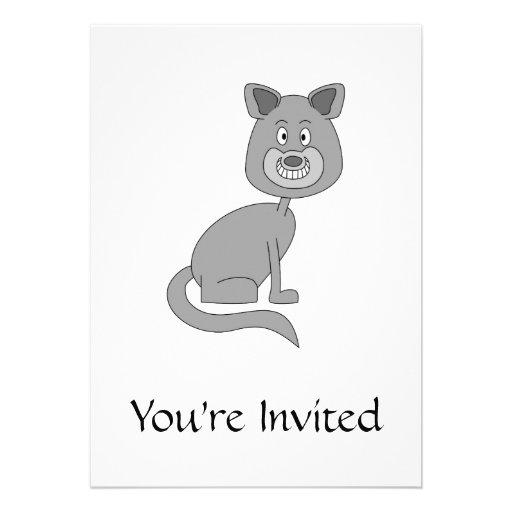 Lustige Katze Personalisierte Ankündigungskarte