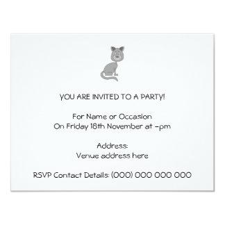 Lustige Katze Personalisierte Einladung