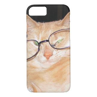 Lustige Katze mit Gläser iPhone 6s harten Hüllen