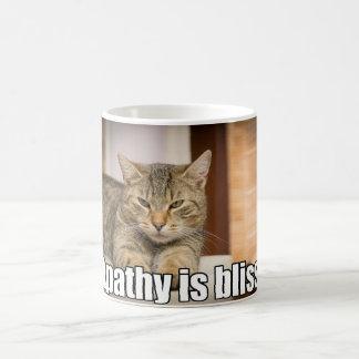 Lustige Katzen-Apathie ist Glück Kaffeetasse