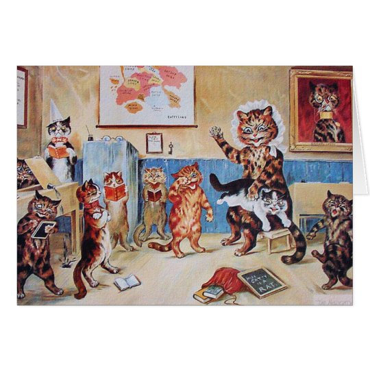 Lustige Katzen-Karten-Einladung: Die freche Mietze Karte