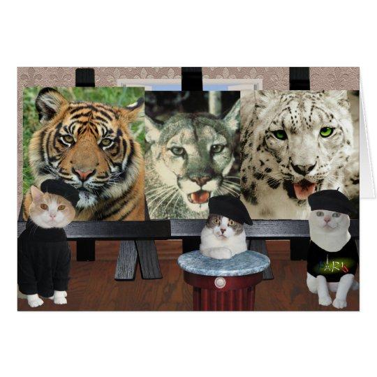 Lustige Katzen-/Kätzchen-Künstler-Ermutigung Grußkarte