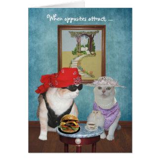 Lustige Katzen/Kätzchen-Valentine/Jahrestag Karte