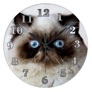 Lustige Katzen-runde Wanduhr