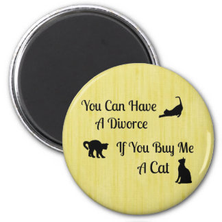 Lustige Katzen-Scheidungs-runder Magnet