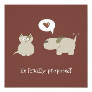 Lustige Katzen- und HundeSave the Date Einladung Quadratische 13,3 Cm Einladungskarte