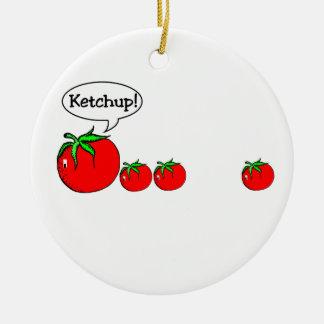 Lustige Ketschup-Witz-Verzierung Keramik Ornament