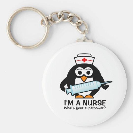 Lustige Krankenpflege keychains mit niedlicher Standard Runder Schlüsselanhänger