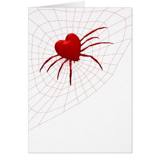Lustige Kugel-Weber Spinne Karte