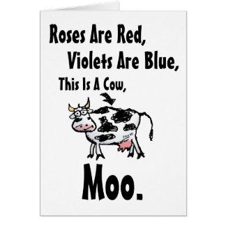 Lustige Kuh-Gedicht-Geburtstags-Karte Karte