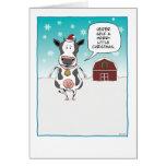 Lustige Kuh Weihnachtskarte: Färsenselbst… Grußkarte