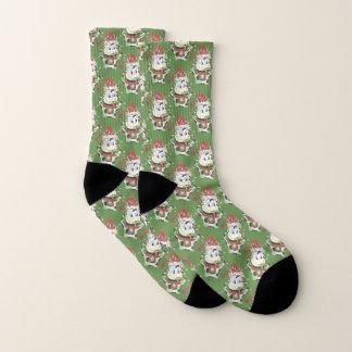 Lustige Kuhmuster Weihnachtssocken Socken