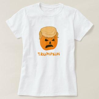 Lustige Kürbis-Kürbislaterne Donald Trumpkin T-Shirt