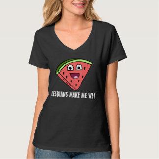 LUSTIGE LESBE MIT WASSERMELONE T-Shirt