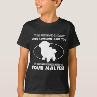 Lustige maltesische Entwürfe T-Shirt