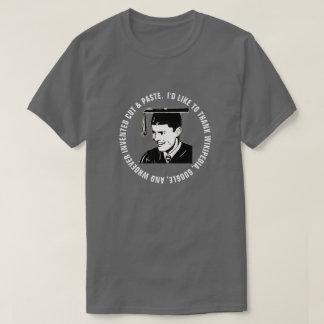 Lustige Mannesabsolvent-Dankbarkeit (weißer Text) T-Shirt