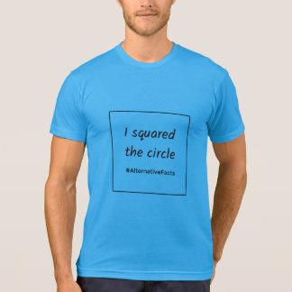 Lustige Mathequadratkreis-Alternativtatsachen T-Shirt