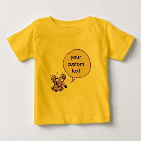 lustige Maus mit kundengerechter Textspracheblase Baby T-shirt
