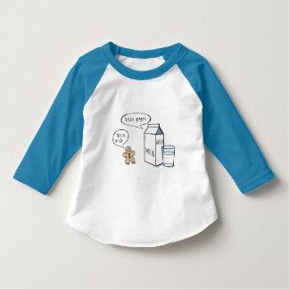 Lustige Milch-u. Ingwer-Kinder weiße T mit blauer T-Shirt