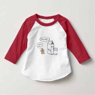 Lustige Milch-u. Ingwer-Kinder weiße T mit roter T-Shirt