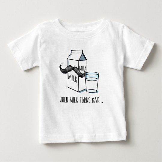 Lustige Milch u. Schnurrbart - Weiß-KinderT - Baby T-shirt