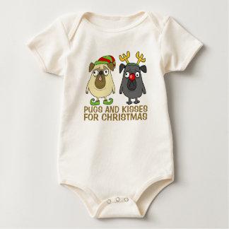 Lustige Möpse und Bodysuit des Kuss-Weihnachten| Baby Strampler