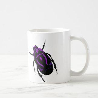 Lustige Mugith lila Käfer Kaffeetasse