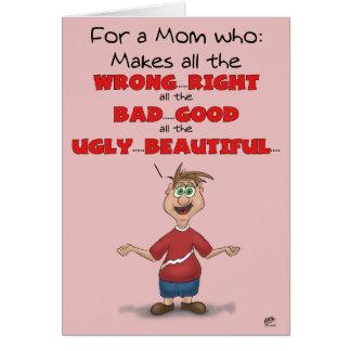 Lustige Mutter-Tageskarten: Das ganzes falsche Karte