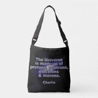 """Lustige Nametaschen """"des Universums"""" Tragetaschen Mit Langen Trägern"""