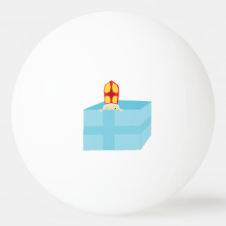 Lustige niedliche Sankt- Nikolausholländer Ping-Pong Ball