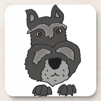 Lustige niedliche Schnauzer-Hundekunst Getränkeuntersetzer