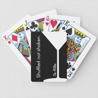 Lustige personalisierte Spielkarten Martinis