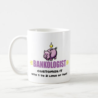 Lustige Piggy Bank Kaffeetasse